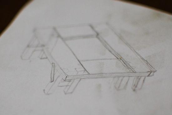 囲炉裏テーブルの想像図1