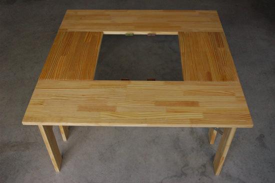 完成した囲炉裏テーブル