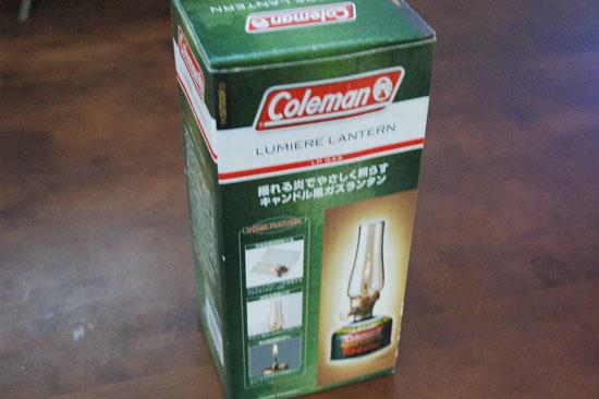 コールマンのルミエールランタン
