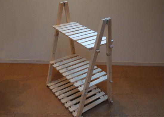 自作の木製ラック