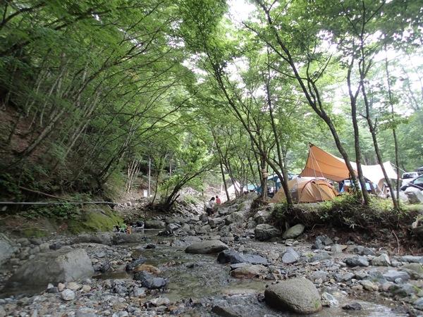 山伏オートキャンプ場で避暑キャンプ