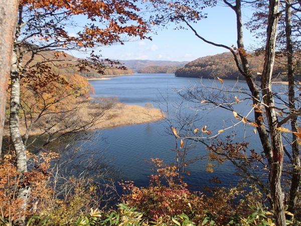 紅葉の羽鳥湖