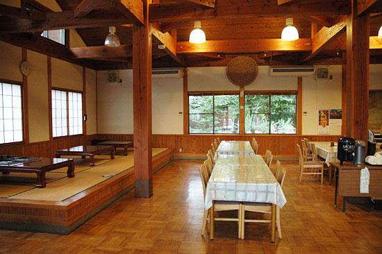 鳥野目河川公園オートキャンプ場の軽食コーナー