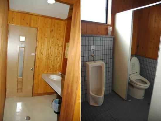 石岡市つくばねオートキャンプ場の管理棟内のトイレ