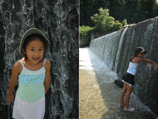 登川河川公園で川遊び2