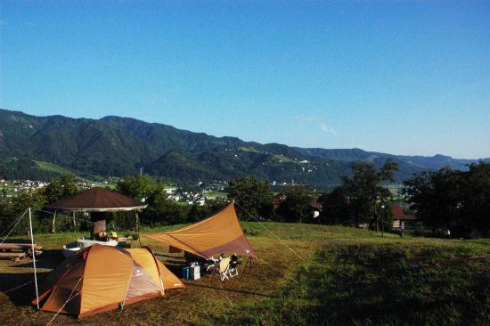 塩沢江戸川荘でキャンプ
