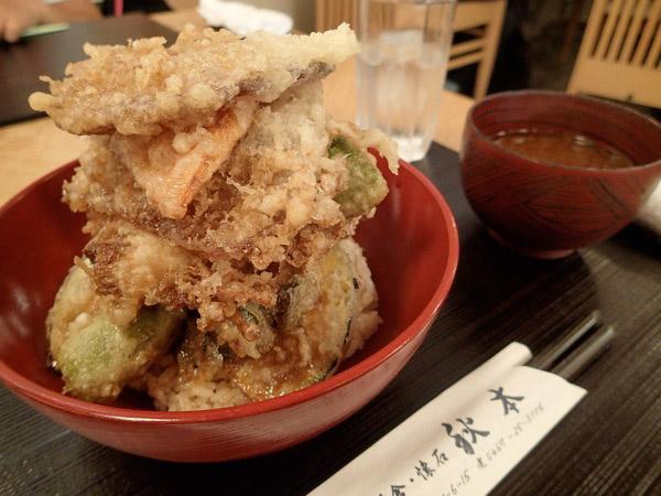 秋本の鎌倉野菜天丼